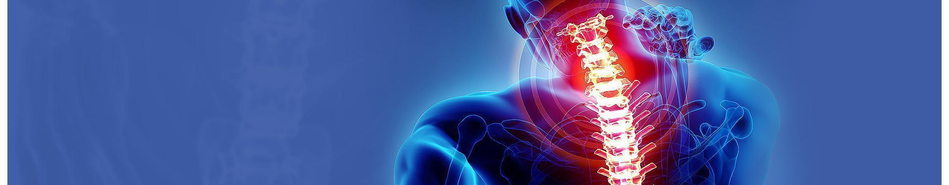 banner wizualizacja bólu kręgosłupa u człowieka